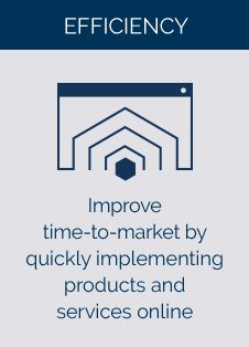Improve time-to-market by quickly implementing products and services online