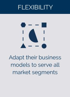 Adapt their business models to serve all market segments