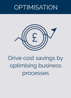 Drive cost savings by optimising business processes