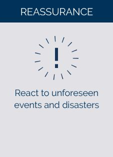React to unforseen events and disasters